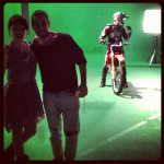Me and the director, Hernan Corera, on set at the Ula Ula music video shoot